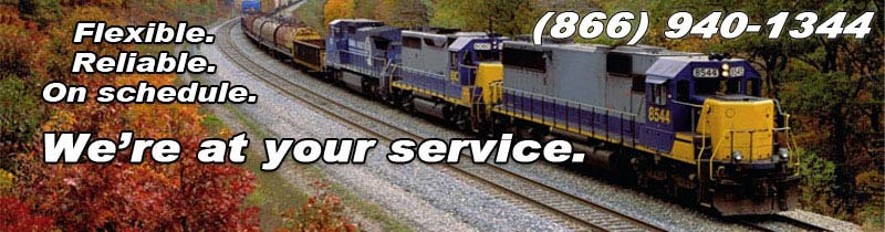 Your rail carrier for transport, rail consolidation and general logistics solutions.